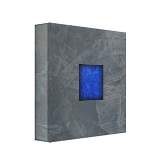 Slate Gray Dark Blue Modern Art Canvas Print