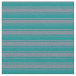 [ Thumbnail: Slate Gray & Dark Cyan Stripes Pattern Fabric ]