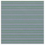 [ Thumbnail: Slate Gray & Dark Green Colored Striped Pattern Fabric ]