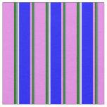 [ Thumbnail: Slate Gray, Dark Green, Violet, Blue & Light Cyan Fabric ]