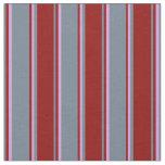[ Thumbnail: Slate Gray, Dark Red & Plum Lined Pattern Fabric ]