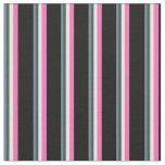 [ Thumbnail: Slate Gray, Dark Slate Gray, White, Pink & Black Fabric ]