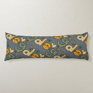 Slate Gray Dog Cartoon Pattern Body Pillow