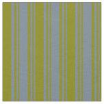 [ Thumbnail: Slate Gray & Green Lines Fabric ]
