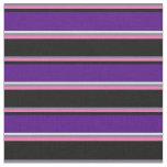 [ Thumbnail: Slate Gray, Hot Pink, Black, Indigo, and Lavender Fabric ]