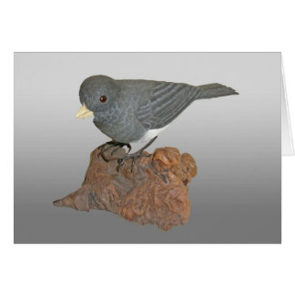 Slate-Gray Junco Woodcarving Note Card