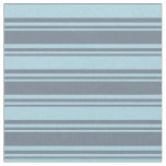 [ Thumbnail: Slate Gray & Light Blue Colored Striped Pattern Fabric ]