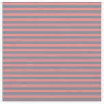 [ Thumbnail: Slate Gray & Light Coral Colored Striped Pattern Fabric ]