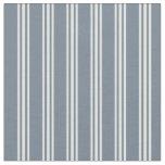 [ Thumbnail: Slate Gray & Light Cyan Lines Fabric ]