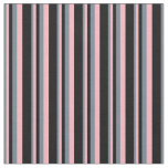 [ Thumbnail: Slate Gray, Light Pink, and Black Colored Pattern Fabric ]
