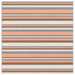 [ Thumbnail: Slate Gray, Light Salmon, Brown, and Mint Cream Fabric ]
