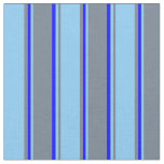 [ Thumbnail: Slate Gray, Light Sky Blue, and Blue Colored Fabric ]