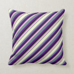 [ Thumbnail: Slate Gray, Light Yellow, Orchid, Black & Indigo Throw Pillow ]