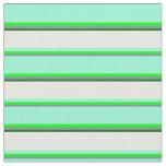 [ Thumbnail: Slate Gray, Lime, Aquamarine, White & Dark Green Fabric ]