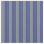 [ Thumbnail: Slate Gray & Midnight Blue Colored Lines Fabric ]