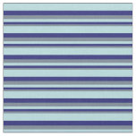 [ Thumbnail: Slate Gray, Midnight Blue & Powder Blue Stripes Fabric ]