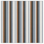 [ Thumbnail: Slate Gray, Mint Cream, Grey, Brown, and Black Fabric ]