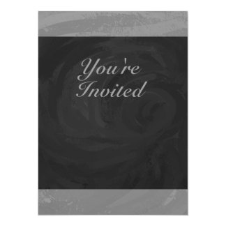 Slate Gray Monogram Card