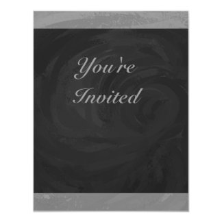 Slate Gray Monogram 4.25x5.5 Paper Invitation Card
