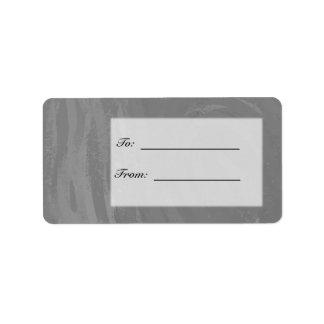 Slate Gray Monogram Address Label
