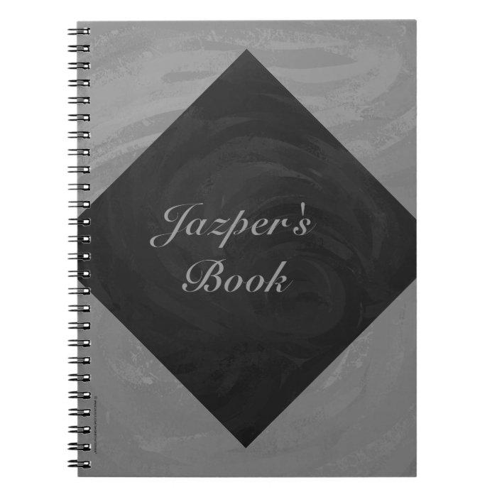 Slate Gray Monogram Notebook