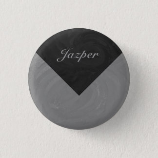 Slate Gray Monogram Pinback Button