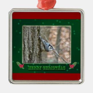 Slate Gray Nuthatch Christmas Songbird Ornament