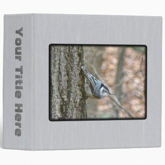 Slate Gray Nuthatch Songbird Binder