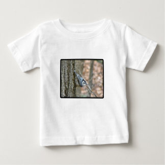Slate Gray Nuthatch Songbird Coordinated Items Baby T-Shirt