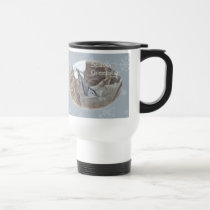 Slate Gray Nuthatch Songbird Seasons Greetings Travel Mug