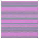 [ Thumbnail: Slate Gray & Orchid Colored Lined/Striped Pattern Fabric ]