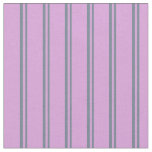 [ Thumbnail: Slate Gray & Plum Lines/Stripes Pattern Fabric ]
