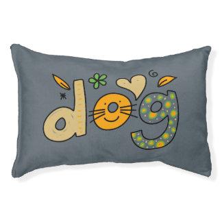 Slate Gray Small Dog Cartoon Pillow Dog Bed