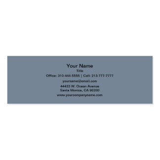 Slate Gray Solid Color Double-Sided Mini Business Cards (Pack Of 20)