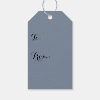 Slate Gray Solid Color Gift Tags
