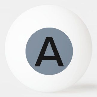 Slate Gray Solid Color Ping-Pong Ball
