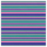 [ Thumbnail: Slate Gray, Teal, Hot Pink, and Blue Pattern Fabric ]