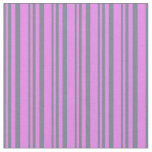 [ Thumbnail: Slate Gray & Violet Colored Lines/Stripes Pattern Fabric ]