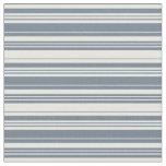 [ Thumbnail: Slate Gray & White Lines Fabric ]