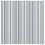 [ Thumbnail: Slate Gray & White Lines/Stripes Pattern Fabric ]
