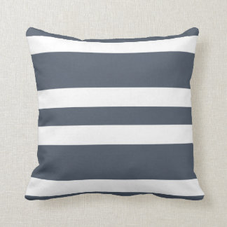 Slate Gray & White Stripe Couch Pillow Gift