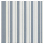[ Thumbnail: Slate Gray & White Striped/Lined Pattern Fabric ]