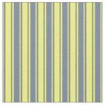 [ Thumbnail: Slate Gray & Yellow Colored Pattern Fabric ]