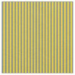 [ Thumbnail: Slate Gray & Yellow Colored Stripes Fabric ]