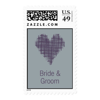 Slate heart Wedding Stamp
