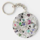 slate mosaic path key chain