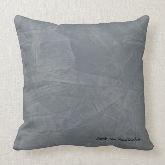 Slate Plaster Faux Stone Pattern Throw Pillows