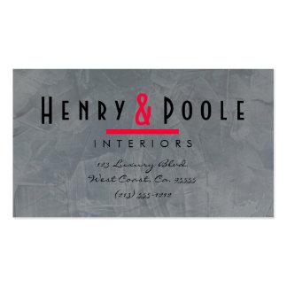 Slate Plaster Interior Designer Business Cards