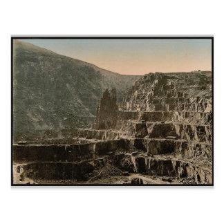Slate quarries, Bethesda, Wales rare Photochrom Postcard