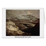 Slate Quarries By John Crome Greeting Card